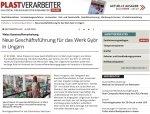 Plastverarbeiter 21.07.20 online Weiss Neue GF Györ
